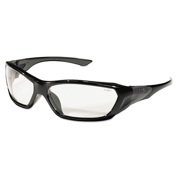 MCR Safety FF120 ForceFlex Black Frame Safety Glasses - Clear Lens