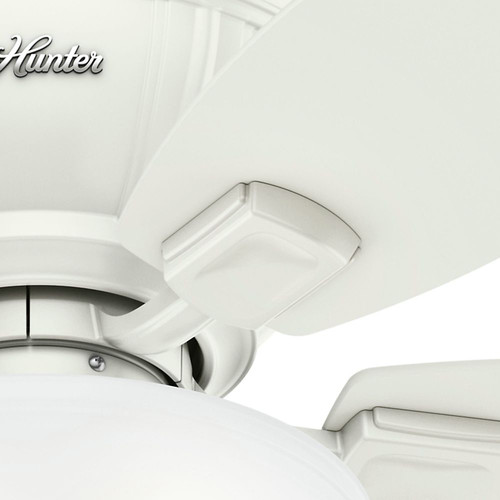Hunter 53378 52 in. Kenbridge Fresh White Ceiling Fan with Light image number 3