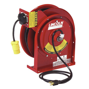 Lincoln Industrial 91031 Heavy Duty Extension Cord Reel with 20 Amp Receptacle