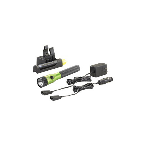 Streamlight 75636 Stinger LED Rechargeable Flashlight with PiggyBack Charger (Lime Green) image number 0