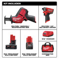 Milwaukee 2593-22 M12 FUEL Brushless Lithium-Ion 1/4 in. Cordless  Hex Impact Driver / HACKZALL One-Handed Reciprocating Saw Combo Kit (2 Ah/ 4 Ah) image number 13