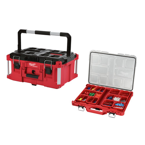Milwaukee 8425-8431-BNDL PACKOUT Large Tool Box and Low-Profile Organizer Bundle image number 0