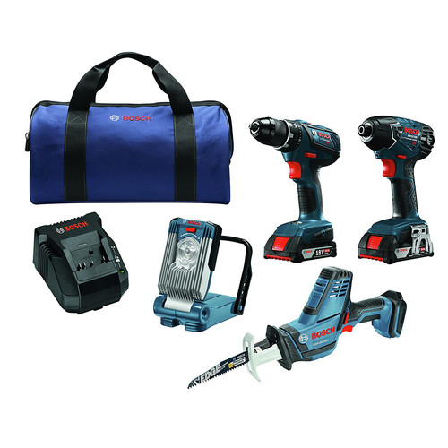 Bosch CLPK496A-181 18V Cordless Lithium-Ion 4-Tool Combo Kit image number 0