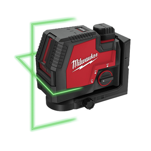 Milwaukee 3521-21 REDLITHIUM USB Rechargeable Green Cross Line Laser image number 0