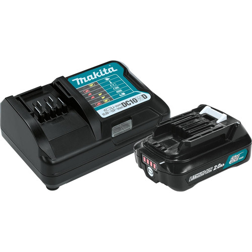 Makita BL1021BDC1 12V max CXT 2 Ah Lithium-Ion Battery and Charger Kit image number 0