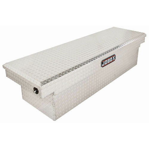 JOBOX PAC1580000 Aluminum Single Lid Full-size Crossover Truck Box (Bright) image number 0