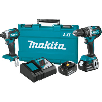 Factory Reconditioned Makita XT269M-R 18V LXT Lithium-Ion Brushless 2-Piece Combo Kit (4.0 Ah)