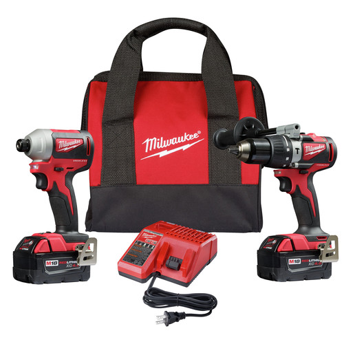 Milwaukee 2893-22 M18 Brushless Hammer Drill / Impact Driver Combo Kit image number 0