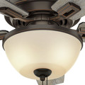 Hunter 52225 44 in. Donegan Onyx Bengal Ceiling Fan with Light image number 6