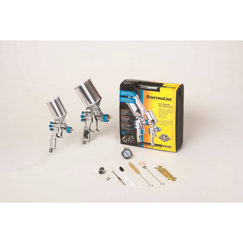 DeVilbiss 802342 StartingLine HVLP Gravity Spray Gun Kit image number 0