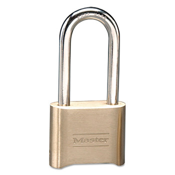 Master Lock 175DLH 2 in. Wide Brass Resettable Combination Padlock (Brass) (6-Pack)