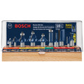 Bosch RBS010 All-Purpose Professional Carbide-Tipped 10-Piece Router Bit Set image number 1
