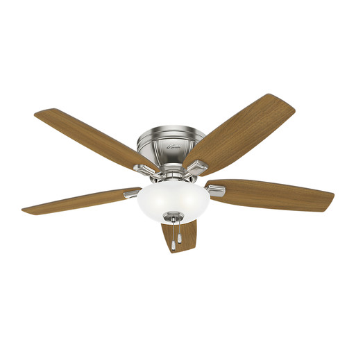 Hunter 53380 52 in. Kenbridge Brushed Nickel Ceiling Fan with Light