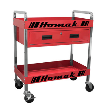 Homak RD06030210 30 in. 1-Drawer Service Cart - Red