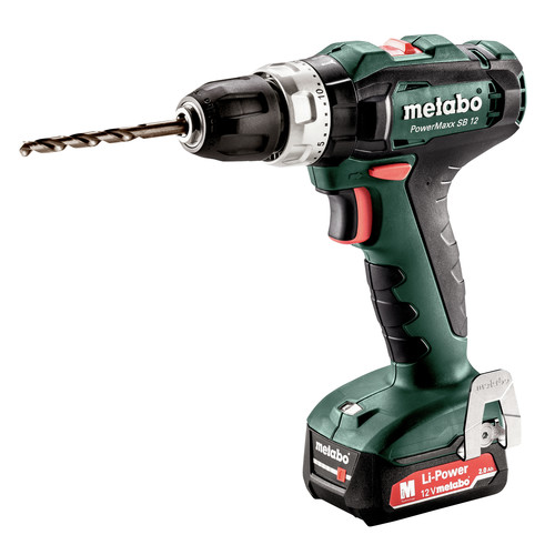 Metabo 601076520 12V PowerMaxx SB 12 Lithium-Ion Brushless Compact 3/8 in. Cordless Hammer Drill Driver Kit (2 Ah) image number 0