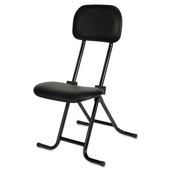Alera ALECS612 IL Series Height-Adjustable Folding Stool (Black)