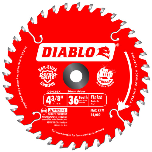Diablo D0436X 4-3/8 in. 36 Tooth Finishing Saw Blade