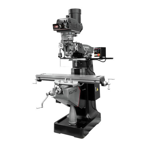 JET 894322 EVS-949 Mill with 3-Axis ACU-RITE 203 (Quill) Digital Readout and X, Y, Z-Axis JET Powerfeeds and USA Made Air Draw Bar image number 0