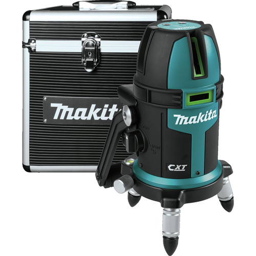 Makita SK209GDZ 12V MAX CXT Lithium-Ion Cordless Self-Leveling Multi-Line/Plumb Point Green Beam Laser (Bare Tool)