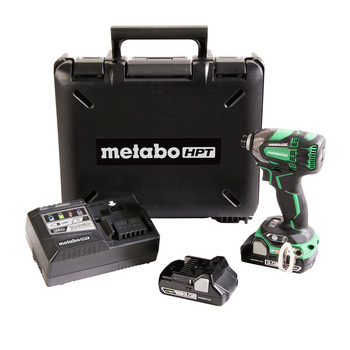Factory Reconditioned Metabo HPT WH18DBDL2M 18V Brushless Lithium-Ion 1/4 in. Cordless Triple Hammer Impact Driver Kit (3 Ah)