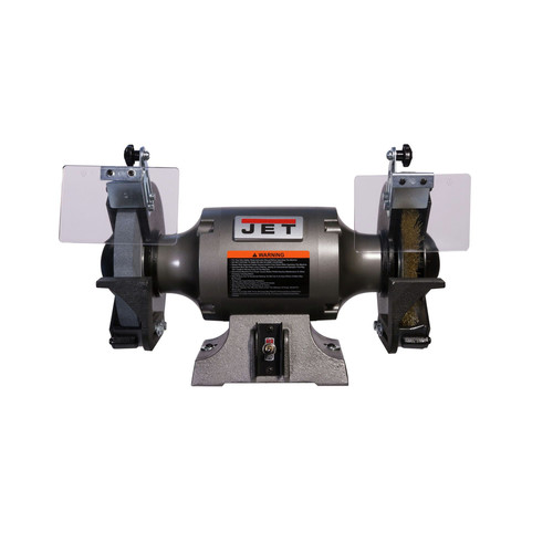 JET 577128 JBG-8W Shop Grinder with Grinding Wheel and Wire Wheel image number 0