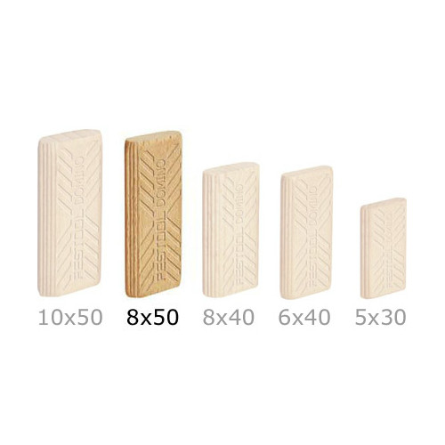 Festool 493299 8mm x 22mm x 50mm Domino Beech Tenons (600-Pack)
