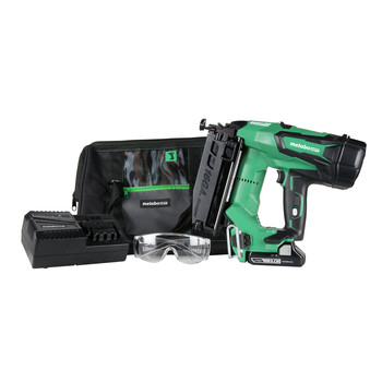 Metabo HPT NT1865DMSM 18V Brushless Lithium-Ion 16 Gauge Cordless Straight Brad Nailer Kit (3 Ah)