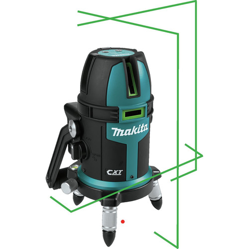 Makita SK209GDZ 12V MAX CXT Lithium-Ion Cordless Self-Leveling Multi-Line/Plumb Point Green Beam Laser (Tool Only) image number 9