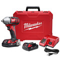 Milwaukee 2658-22CT M18 Lithium-Ion 3/8 in. Impact Wrench Kit with Friction Ring image number 0