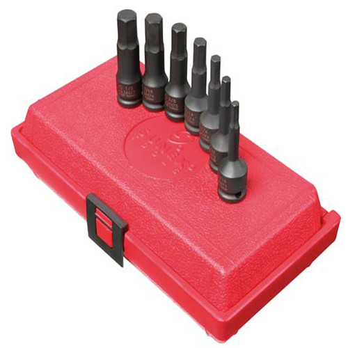 Sunex 3647 7-Piece 3/8 in. Drive SAE Hex Impact Socket Set