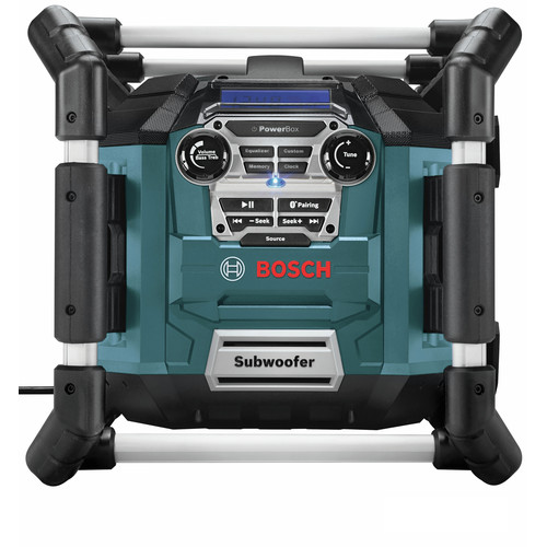 Bosch PB360C 18V Cordless Lithium-Ion Power Box Jobsite AM/FM Radio/Charger/Digital Media Stereo (Tool Only) image number 0
