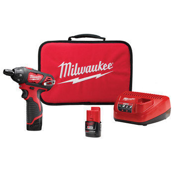 Milwaukee 2401-22 M12 Lithium-Ion Sub-Compact Screwdriver Kit with 2 Batteries