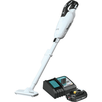 Makita XLC05R1WX4 18V LXT Lithium-ion Compact Brushless Cordless 3-Speed Vacuum Kit with Push Button and Dust Bag (2 Ah)