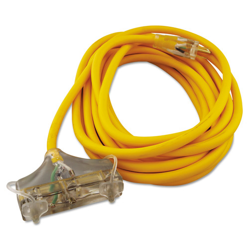 CCI 034870002 25 ft. Polar/Solar 3-Outlet Outdoor Extension Cord (Yellow) image number 0