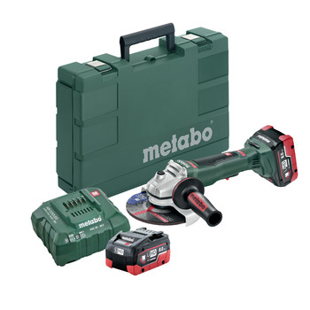 Metabo 613076640 18V 6.2 Ah Cordless LiHD 6 in. Brushless Angle Grinder Kit image number 0