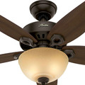 Hunter 52218 42 in. Builder Small Room New Bronze Ceiling Fan with Light image number 4