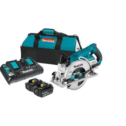 Makita XSR01PT 18V X2 LXT (36V) Brushless Cordless Rear Handle 7-1/4 in. Circular Saw Kit (5.0Ah) image number 0