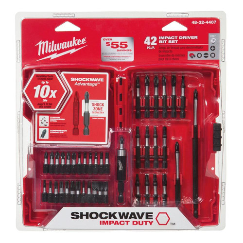 Milwaukee 48-32-4407 42-Piece Shockwave Impact-Duty Bit Set