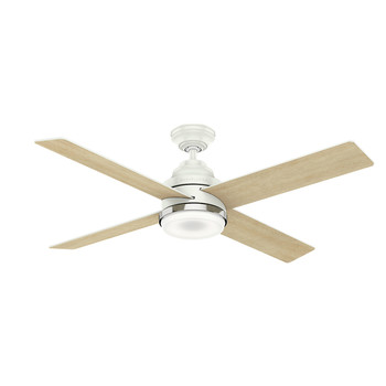 Casablanca 59413 54 in. Daphne Ceiling Fan with Light and Integrated Wall Control (Fresh White)