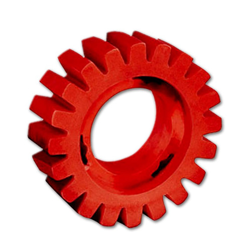 Dynabrade 92255 Red-Tred Eraser Wheel 4 in. x 3/4 in. image number 0