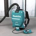 Makita XCV10ZX 18V X2 LXT Lithium-Ion (36V) Brushless 1/2 Gallon HEPA Filter AWS Capable Backpack Dry Dust Extractor (Tool Only) image number 7
