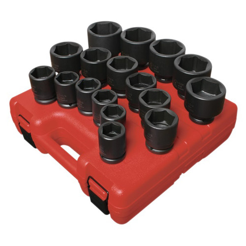 Sunex 4683 17-Piece 3/4 in. Drive SAE Heavy-Duty Impact Socket Set