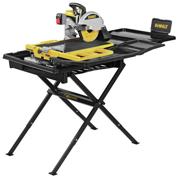 Dewalt D36000S 15 Amp 10 in. High Capacity Wet Tile Saw with Stand