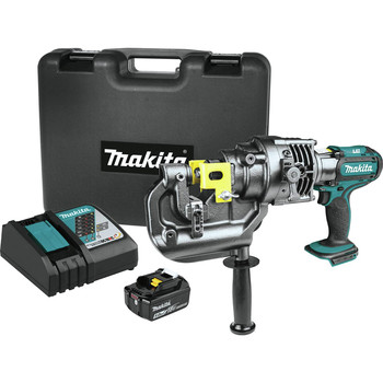 Makita XPP01T1K 18V LXT Brushed Lithium-Ion 5/16 in. Cordless Metal Hole Puncher Kit (5 Ah)
