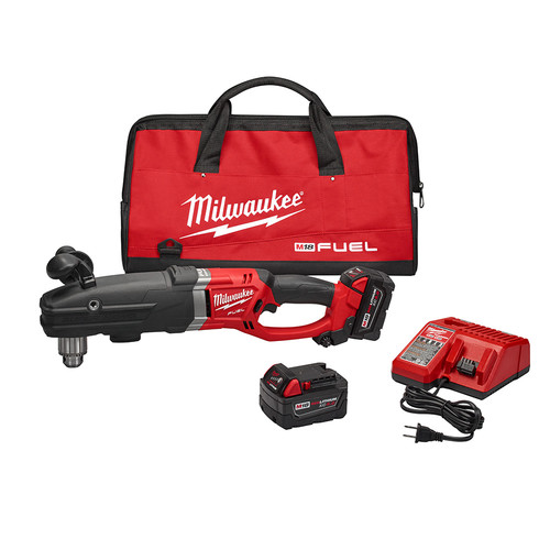 Milwaukee 2709-22 M18 FUEL 18V Lithium-Ion SUPER HAWG 1/2 in. Right Angle Drill Kit