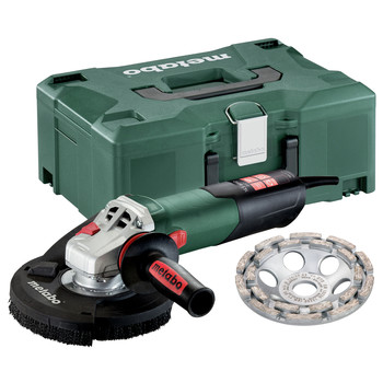 Metabo 603829620 RSEV 17-125 14.5 Amp 2,800 - 9,600 RPM Variable Speed 5 in. Corded Concrete Grinder with Lock-On