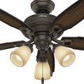 Hunter 52233 44 in. Ambrose Onyx Bengal Indoor Ceiling Fan image number 4