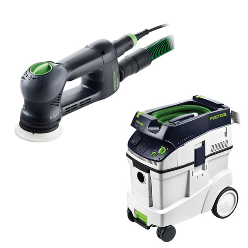 Festool RO 90 DX Rotex 3-1/2 in. Multi-Mode Sander with CT 48 E 12.7 Gallon HEPA Dust Extractor