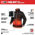 Milwaukee 232B-21L M12 Heated Women's Softshell Jacket Kit - Black, Large image number 3