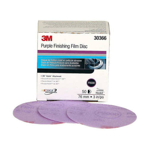 3M 30366 3 in. P2000 Hookit Film Disc image number 0